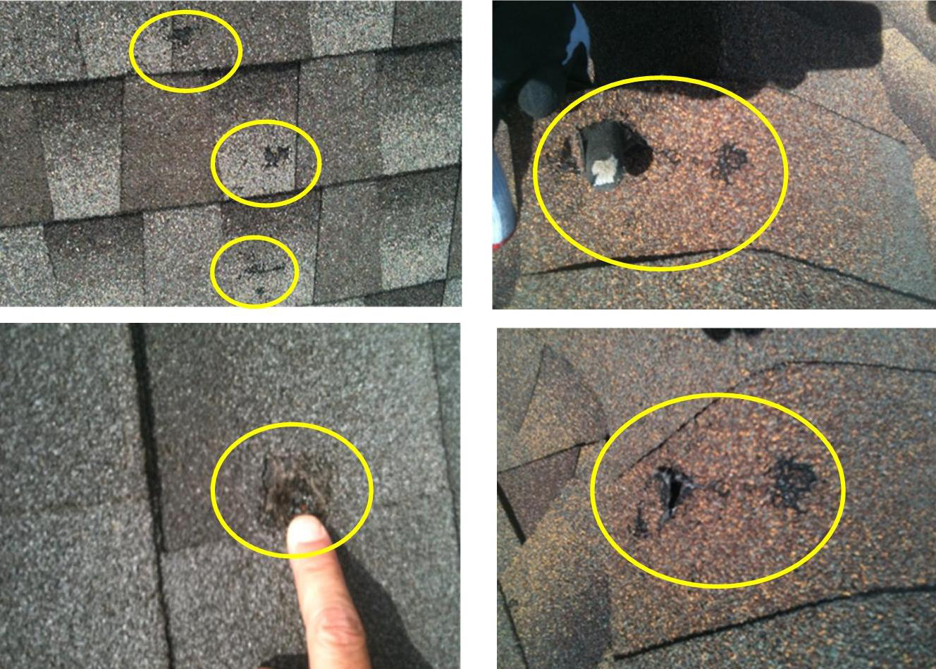 Roof Hail Damage In The Winter